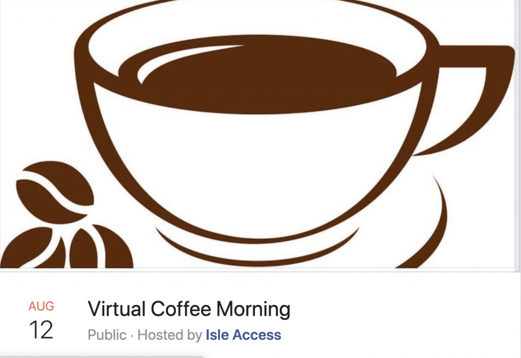 Virtual coffee morning advert