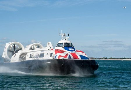 Picture of the Hovercraft at sea