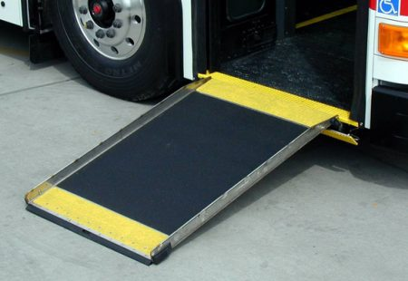 Picture of a ramp on a bus