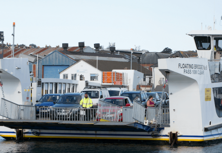 Picture of the Isle of Wight floating bridge