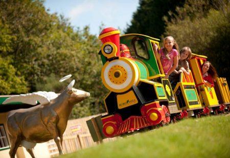 Robin Hill - picture of children on a small train.